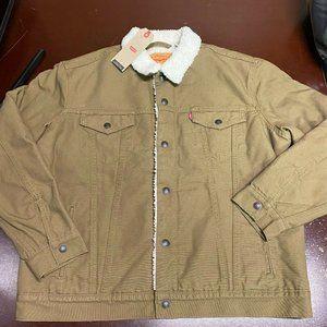 Levi Strauss Co Mens Trucker Bomber Coat Jacket L